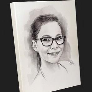 aquarel zwart-wit