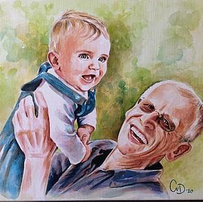 aquarel portretschilderij