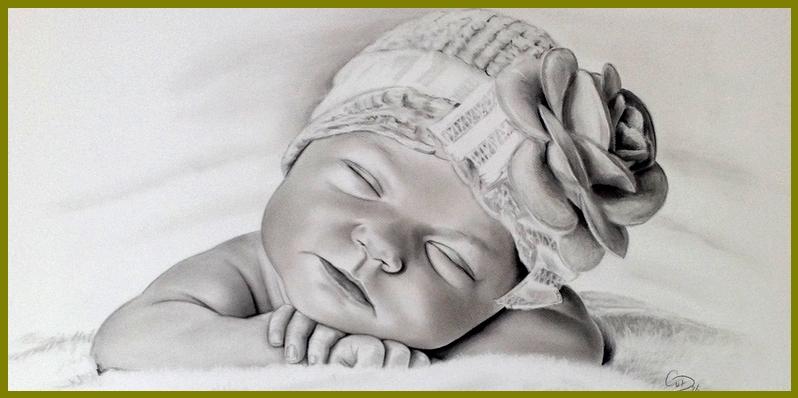 portrettekening baby