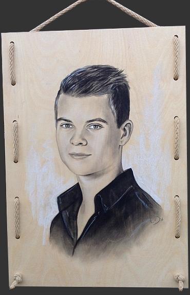 portret op hout<empty>