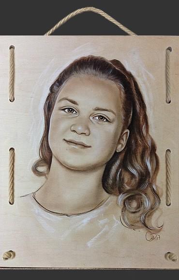 portret op hout