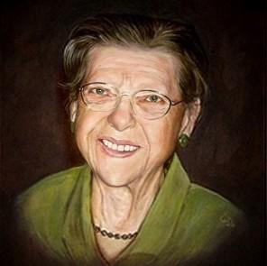 portretschilderij vrouw klassiek door portretschilder Carroline van Dijk