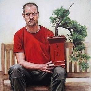 groot schilderij bonsai laten maken
