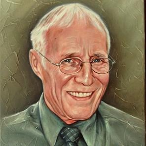 portretschilderij opa