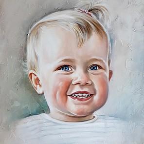 portretschilderij kleinkind