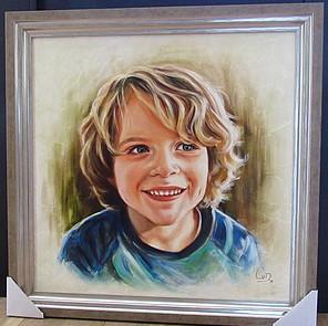olieschilderij kinderportret