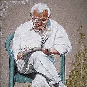 portrettekening opa