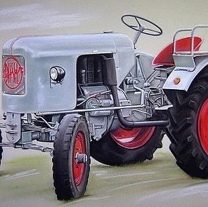 tekening tractor