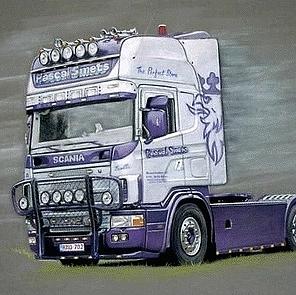 tekening vrachtwagen kleur