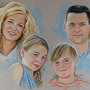 tekening gezin