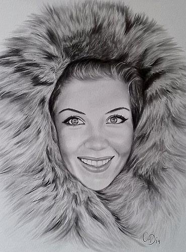 portrettekening vrouw