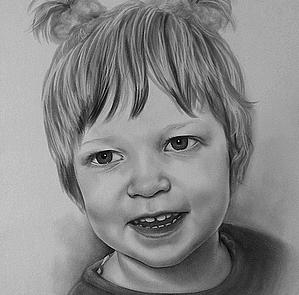 portrettekening meisje