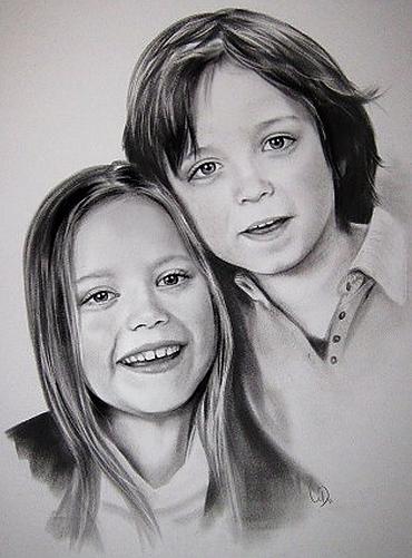 portretttekening kinderen