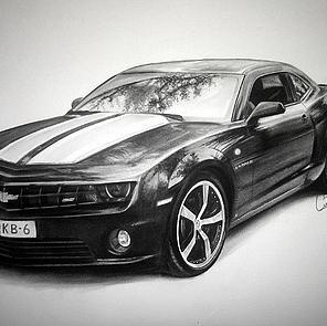 tekening auto