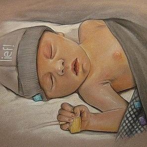 tekening overleden kindje