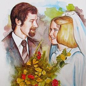 huwelijkskado schilderij