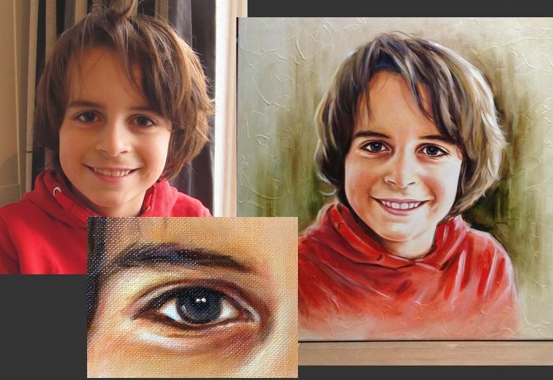 Olieverfschilderij door portretschilder Carroline van Dijk