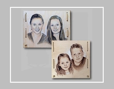 portretschilder Carroline van Dijk maakt portretten op hout